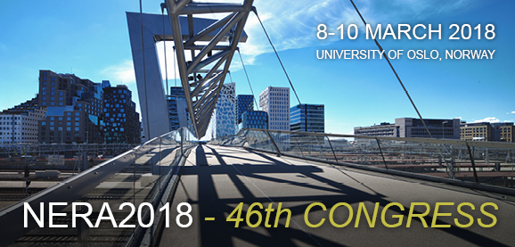 NERA2018 - 46th CONGRESS • 8-10 MARCH 2018 • UNIVERSITY OF OSLO, NORWAY