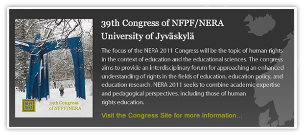 NERA's 39th Congress 2010, Malmö University- Active citizenship in local, regional and global perspectives: Critical and interdisciplinary approaches  The congress will be held at Orkanen (the Hurricane), Malmö University's home to the School of Education and main library.